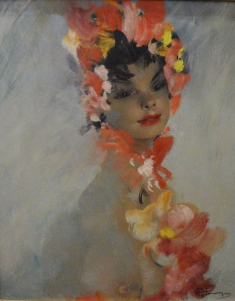 "Jean Gabriel DOMERGUE (1889-1962)  ""Yasmine""  Huile sur panneau, signée en bas à…"