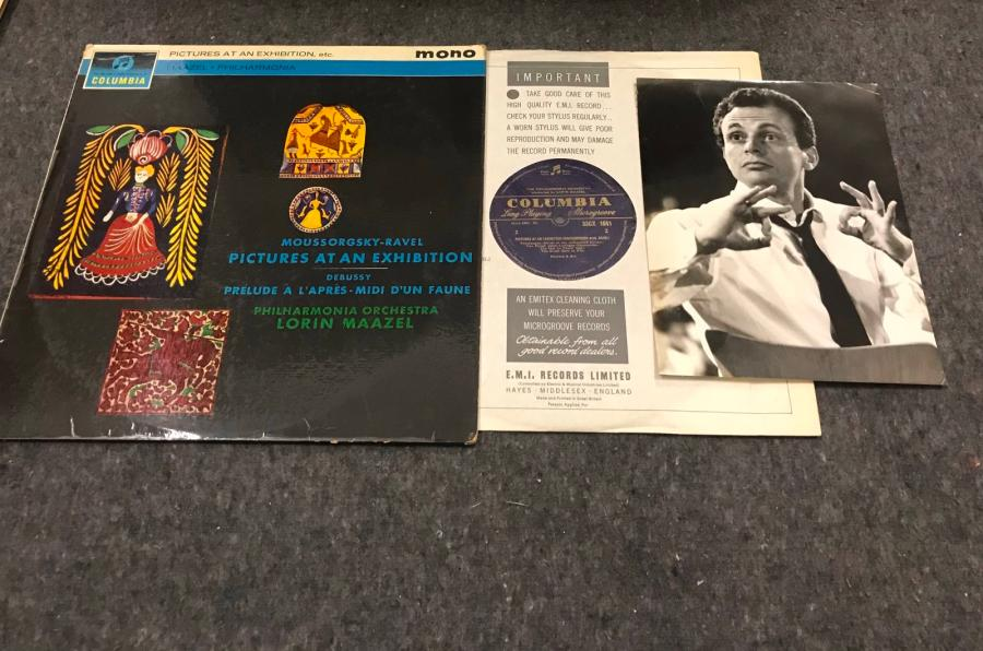 Un disque 33T Lorin Maazel Picture at an exhibition Columbia 33CX1841 mono UK +…