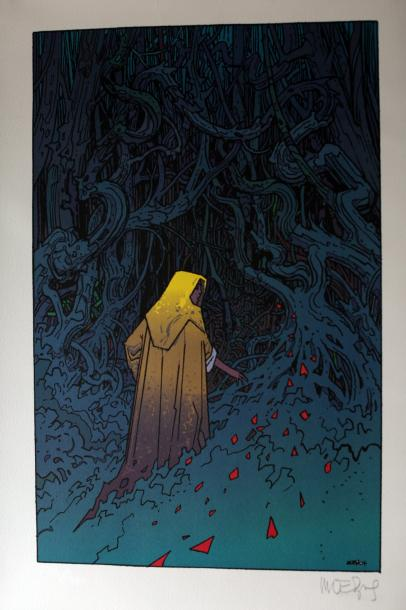 "ESTAMPE COLLECTOR de MOEBIUS pour le film ""The Village"" de N. Shyamalan, dimensions…"