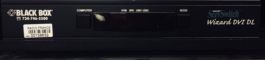 DEPORT SWITCH KVM BLACK BOX KV2004A . Switch KVM