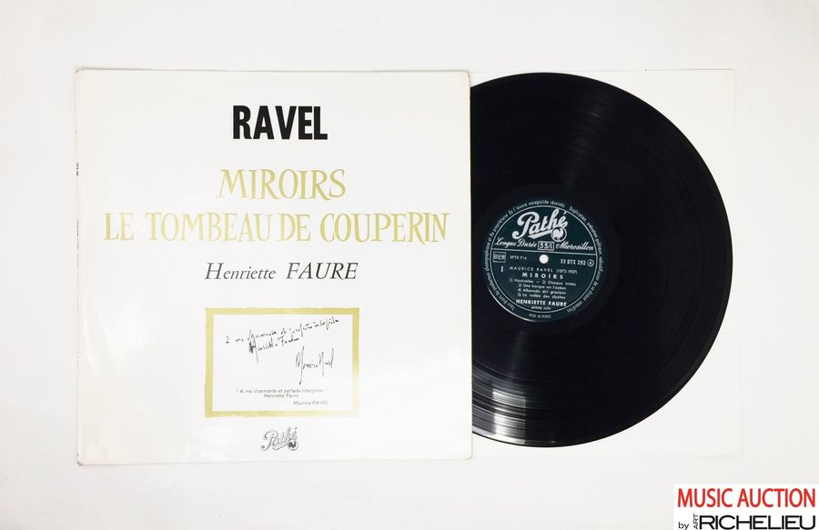 Lot de 1x LP d'Henriette Faure, piano. Ravel : miroirs le tombeau de Couperin. Pathé,…