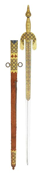 ‡ A FINE SPANISH BROADSWORD IN MOORISH 15TH CENTURY STYLE, BASED ON THAT OF BOAB…
