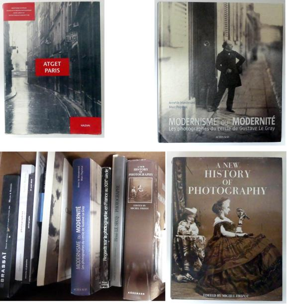 DOCUMENTATION. 15 ouvrages, monographies et catalogues de ventes. Atget Paris, Hazan…