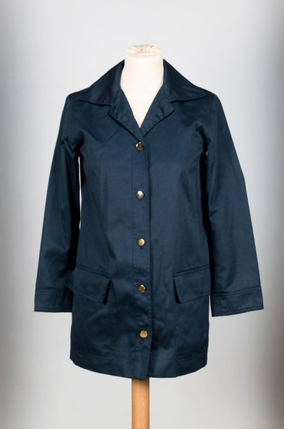 YVES SAINT LAURENT Rive Gauche, Paris, Made in France, Veste droite en toile bleue…