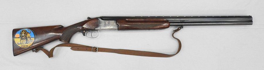 Fusil Winchester Model 400. Calibre 12/70. Canons superposés de 71 cm. Crosse pi…