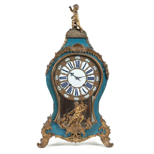 Lacquered wood and gilt bronze Cartel clock France, mid 18th century 82x44x16 cm…