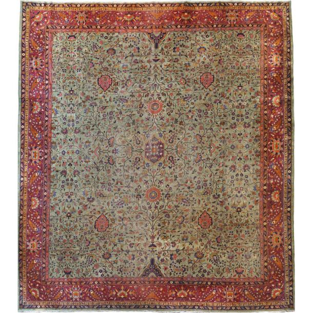 Lilian carpet Persia, 19th 20th century 485x430 cm in wool and cotton, large flo…