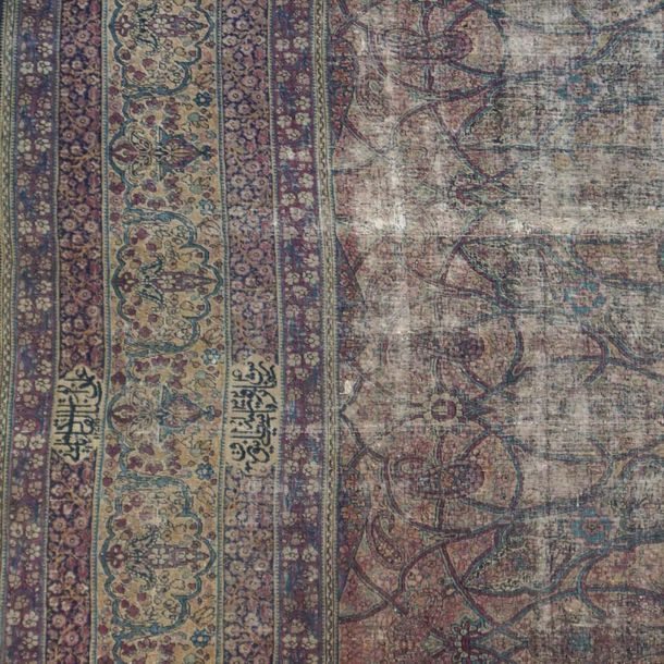 Kirman Lavel carpet Persia, 19th century 410x270 cm. In wool and cotton, rich fl…