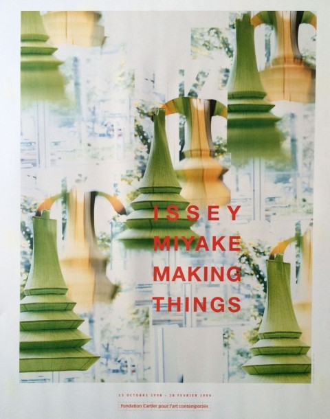 "ANONYME () Affiche Fondation Cartier pour l'art contemporain   ""Issey Miyake making…"