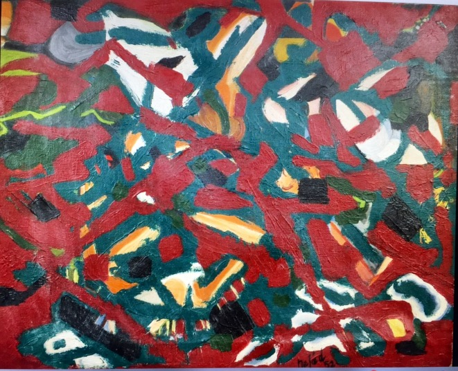 NEJAD Devrim 1923-c.1995 Composition Oil on canvas 1952 signed and dated lower right…
