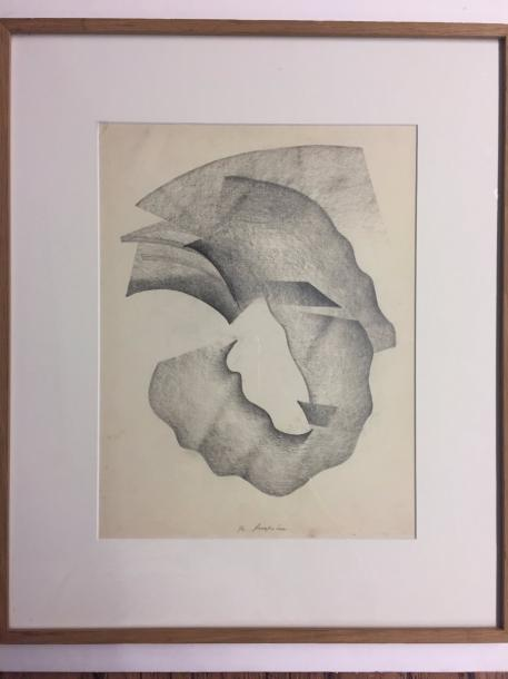 YAKOUBOVITCH Vladimir , XXème Abstract composition Pencil on paper signed lower center…