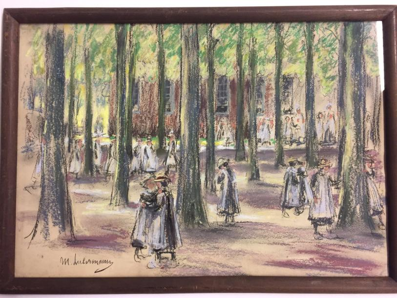 LIEBERMANN Max, 1847-1935 Pastel on paper signed lower left 32 x 46 cm