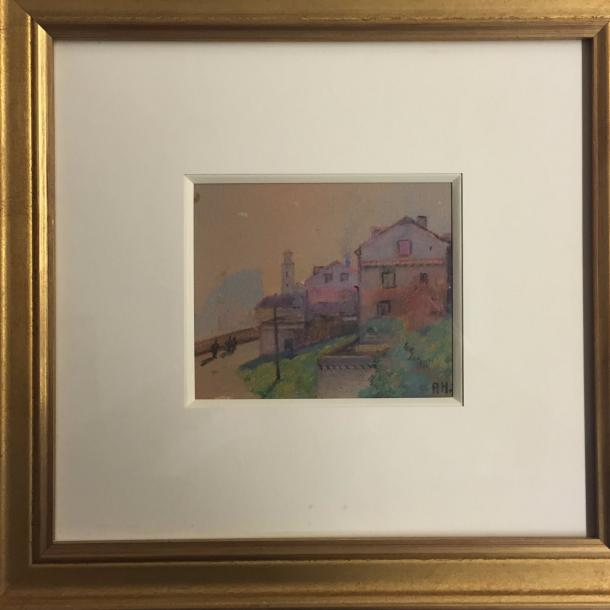 HANZEN Aleksei Vasilievich, 1876-1937 Color pastel on paper monogrammed lower right…