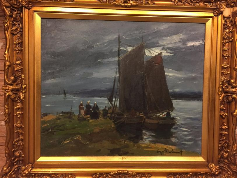 "KISLAKOFF Serge, 1897-1980 ""The boats"" Oil on canvas signed lower right 46 x 55 …"
