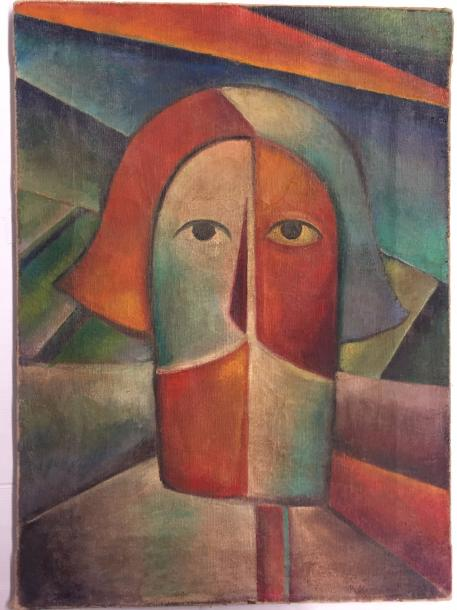 "MALEVICH Kasimir , 1878-1935 ""Head of Peasant"" C.1911-1915 Oil on canvas - signature…"