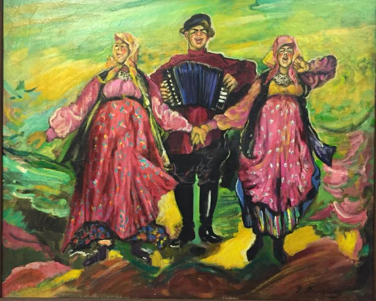 MALJAVIN (attributed) Filip Andreevic , 1869-1940 Oil on panel signed lowerright67,5…