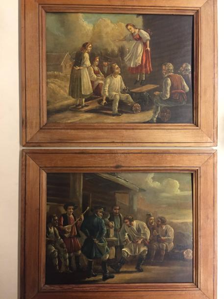 ORLOWSKY (attributed) Alexander Ossipovich, 1777-1832 Lot of two compositions-Painting…