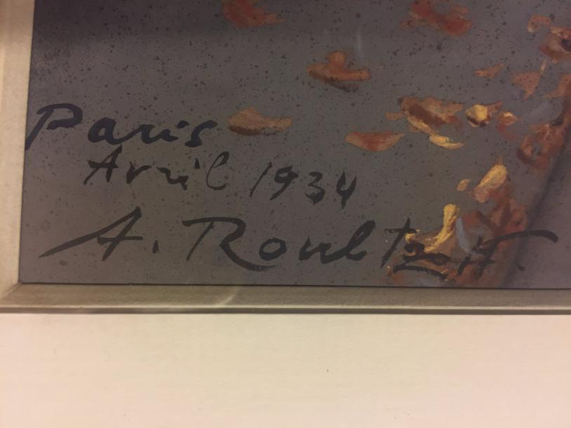 ROUBTZOFF Alexandre , 1884-1949 Watercolor on paper, Paris 1934 signed, dated and…