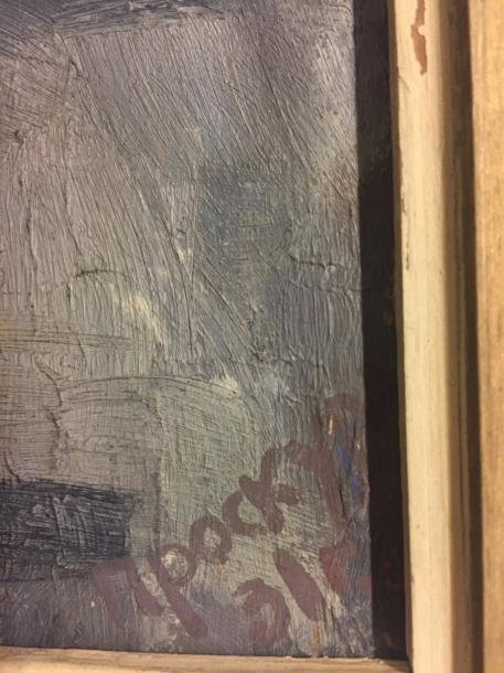 RUSSIAN ANONYMOUS , Oil on panel 1931 signed M.POCKYPA and dated lower right 41 x…