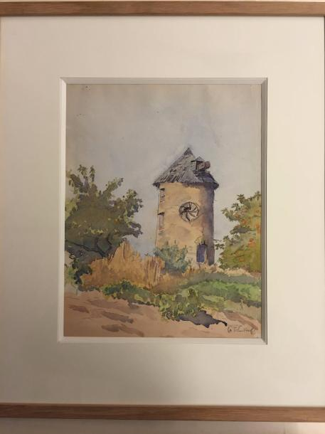 TCHERKESSOF Georges, 1900-1943 Watercolor on paper signed lower right 29,5 x 23,5…