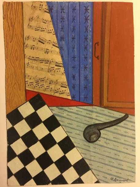VASNECOV Jurij Alekseevic , 1900-1973 Mixed technic and collage on cardboard signed…