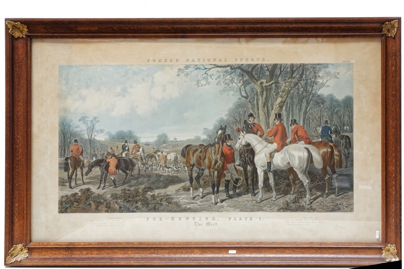 "HERRING John Frederick I (1795-1865) ""Fox Hunting - Plate 1 (The Meet) & Plate 2…"