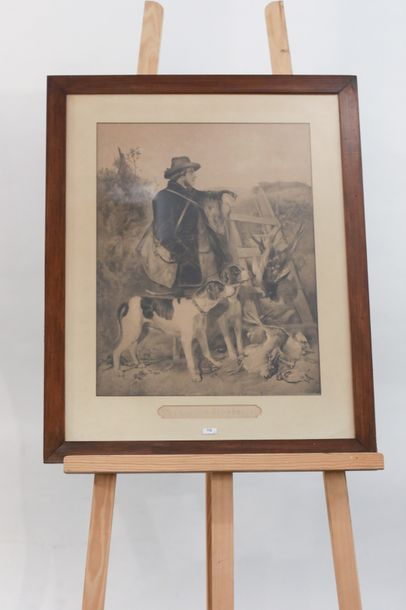 "ÉCOLE ANGLAISE ""The english Gamekeeper"" et ""The scotch Gamekeeper"", paire de lithographies…"
