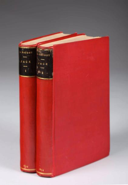 DAUDET (Alphonse) Jack. Mœurs contemporaines. Paris, Dentu, 1876. 2 volumes in-12,…