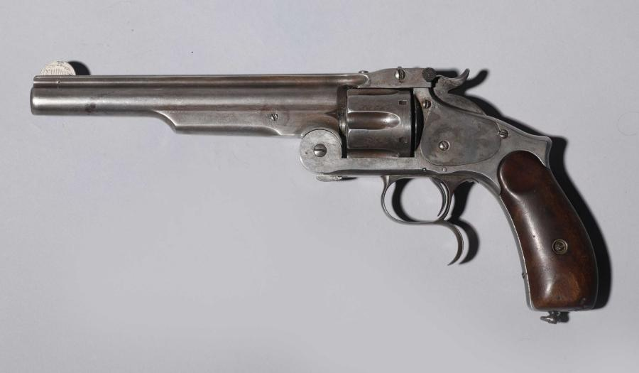 Revolver Smith & Wesson n°3 Russian, second modèle, six coups, calibre 44 Russian.…