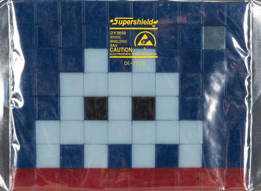 SPACE INVADER (1969) Exceptionnel collection de 13 kits d'invasion en mosaîque.La…