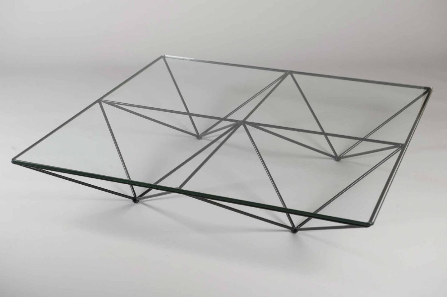 paolo piva table basse mod le alanda plateau carr en verre translucide. Black Bedroom Furniture Sets. Home Design Ideas