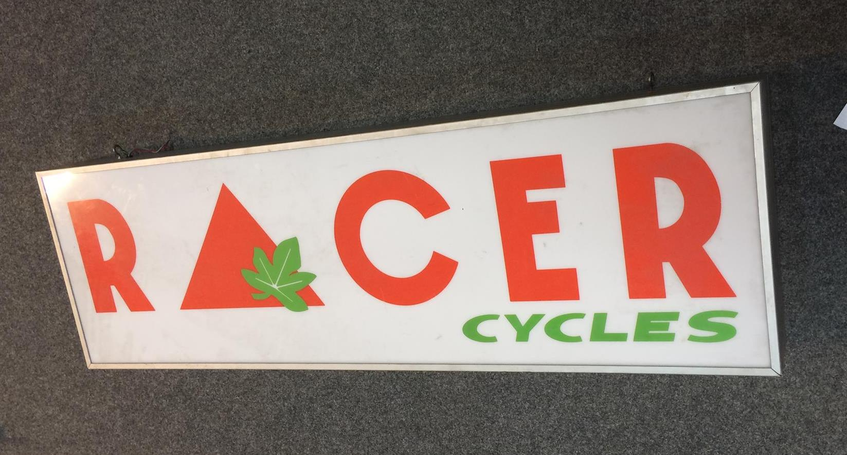 Enseigne publicitaire lumineuse Racer cycles