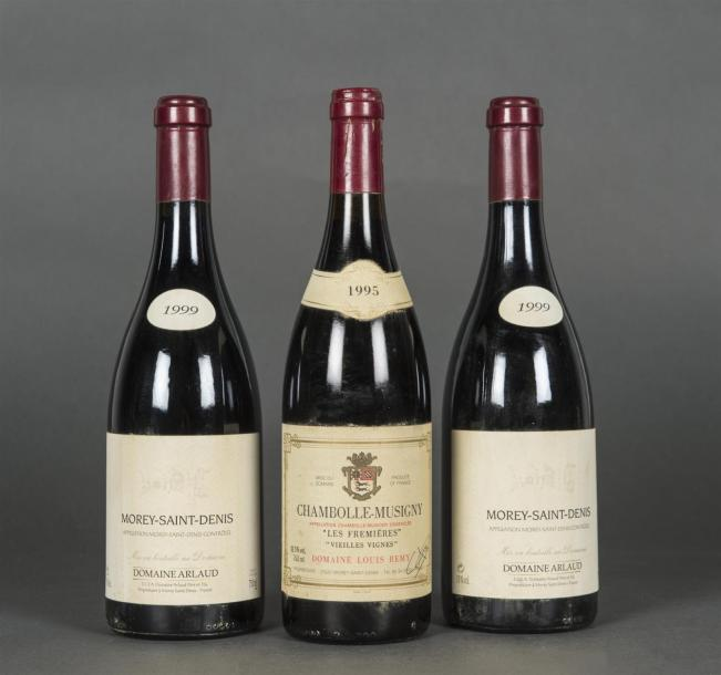 2 B MOREY ST DENIS (e.l.s.) Domaine Arlaud 1999 1 B CHAMBOLLE-MUSIGNY LES FREMIÈRES…