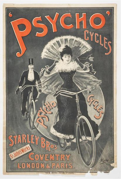 MOORE George - Psycho CYCLES - Starley Bros Coventry. London & Paris. Imp. DARGERFIELD…