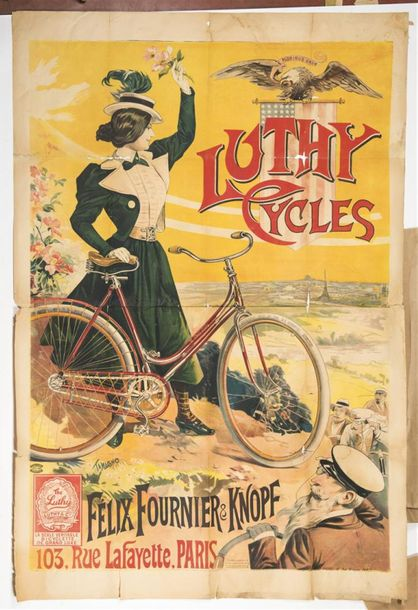 TAMAGNO Francisco - LUTHY CYCLES ; Felix Fournier & Knopf. Imp. Courmont frères.…