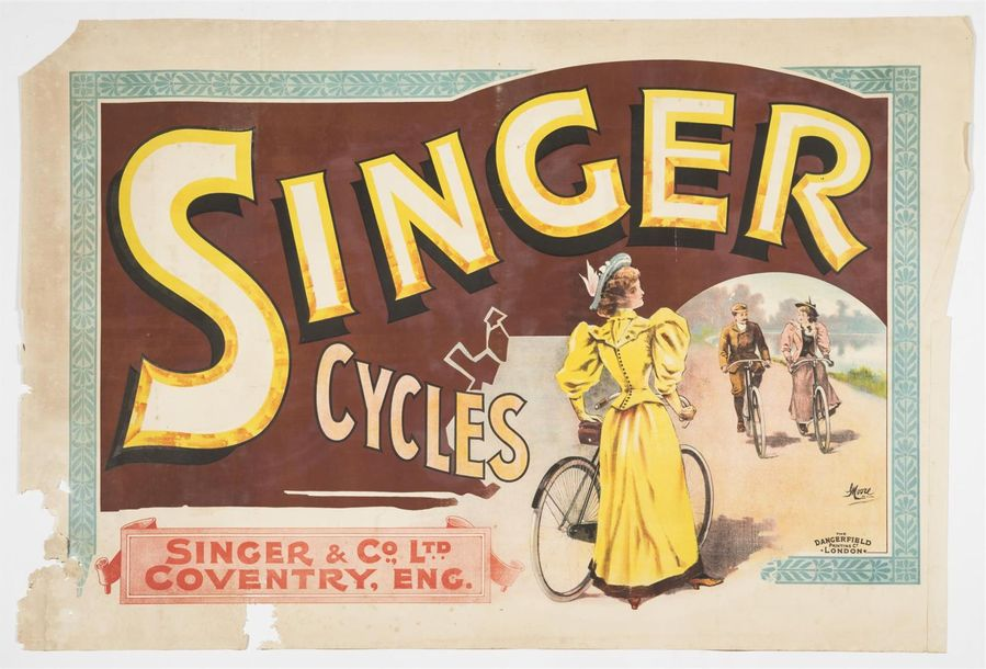 MOORE George - Singer CYCLES - Coventry. London & Paris. Imp. DARGERFIELD London…