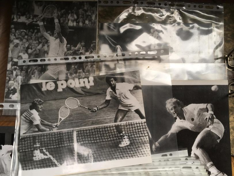 Classeur SPORTS : plus de 90 photos dans de multiples sports tennis (Mac Enroe,…