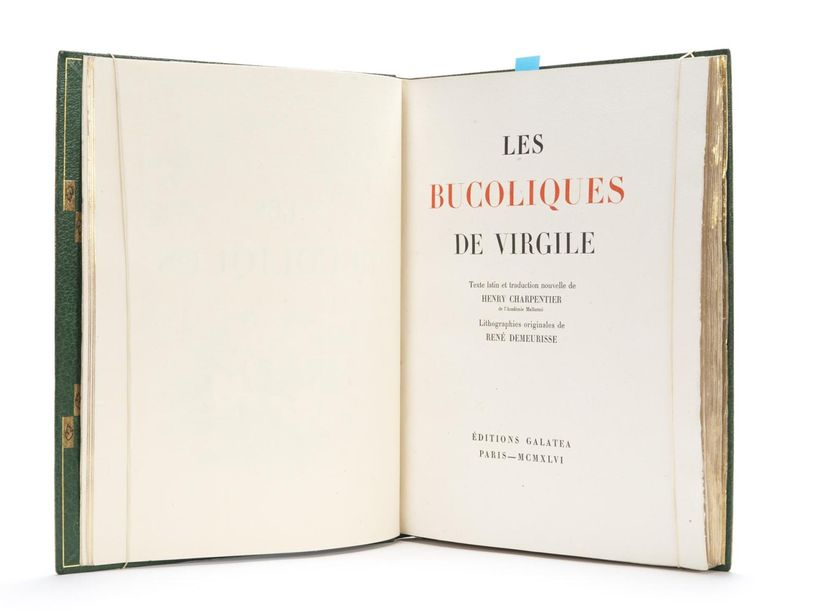 VIRGILE : Les Bucoliques. Galatea, Paris, 1946. Lithographies originales de René…