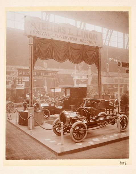 Wolff, Oscar ; Coopmans, G. ; Berger, F. 3 photos of cars. Ca. 1907 1920 1. Coop…