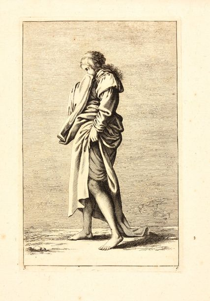 "Rosa, Salvator After ROSA, Salvator ""I Figurine"". Ca. 1680 11 (of 62) etchings, …"