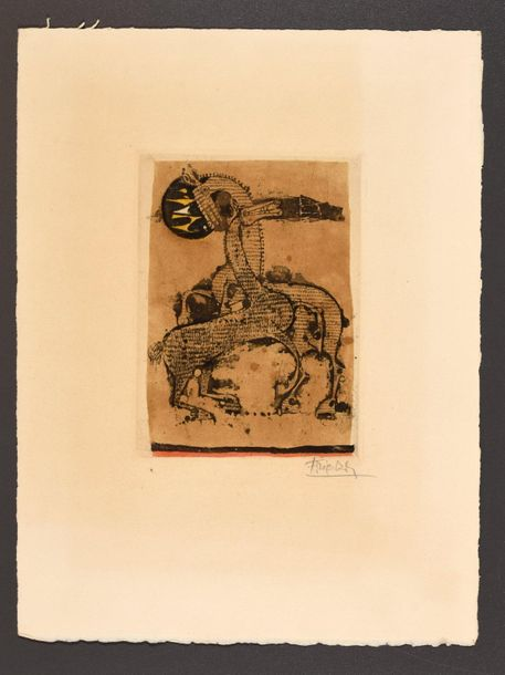 Friedlaender, Johnny FRIEDLAENDER, Johnny Two horses. S.D Etching and aquatint i…