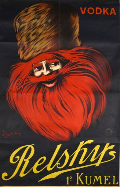 Cappiello, Leonetto CAPPIELLO, Leonetto Vodka/ Relsky/ 1° Kumel. Paris Vercasson…
