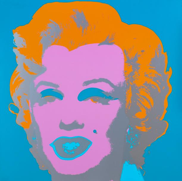 "ANDY WARHOL 1928 - 1987 MARILYN MONROE Table basse ""Andy"", Sérigraphie originale…"