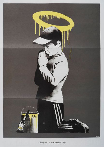 BANKSY BANKSY D'après Dismaland Don't Panic Poster Forgive us our Trespassing 59…