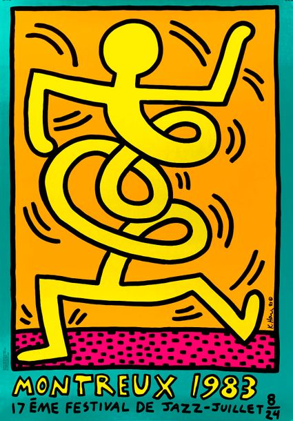 Keith HARING Keith HARING (1958 1990) Montreux Jazz Festival Affiche sérigraphiq…
