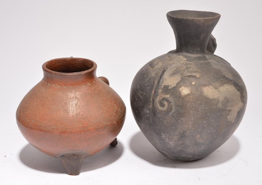 A Colima anthropomorphic vessel Mexico, circa 200 BC 300 AD pottery with incised…