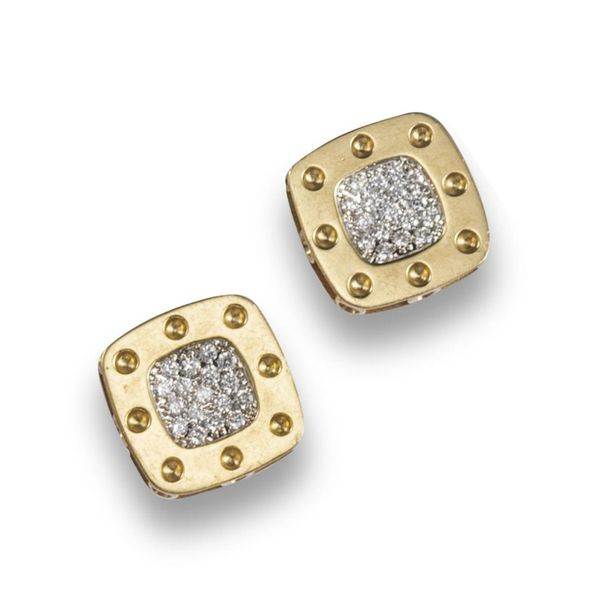 A pair of diamond set gold ~Pois Moi~ earrings by Roberto Coin, each earring wit…