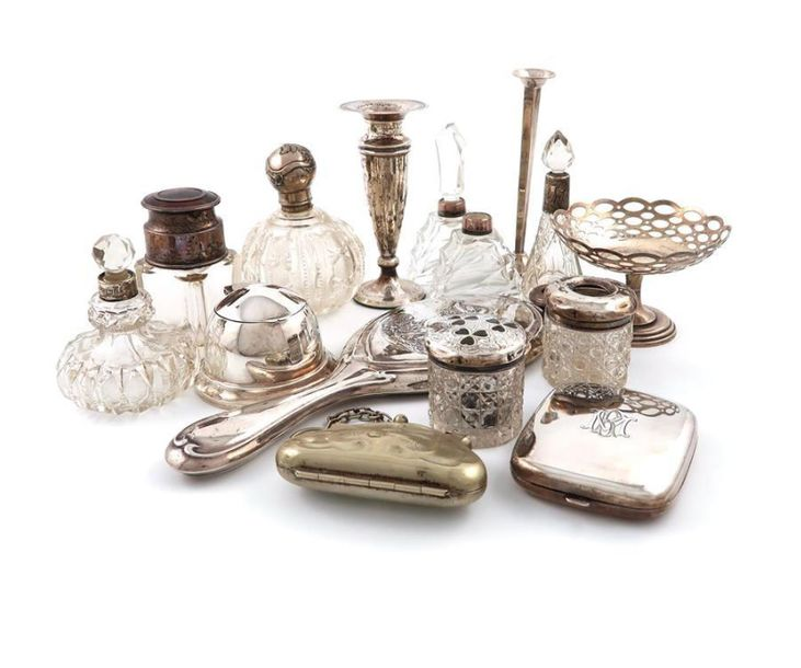 A mixed lot of silver items, various dates and makers, comprising: a silver trav…