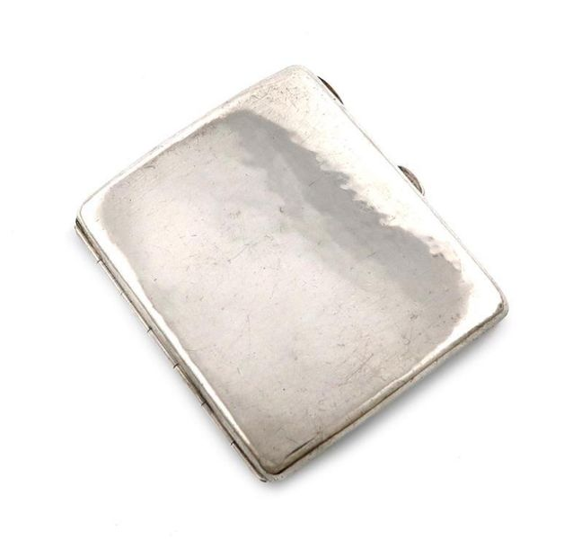 By Omar Ramsden, an Arts and Crafts silver cigarette case, London 1921, plain sh…