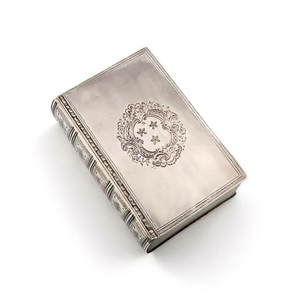 A George II silver table snuff box, by Gundry Roode, London 1731, modelled as a …